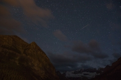 Perseid over Lake Louise